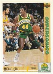 1991 Upper Deck SuperSonics #127 Michael Cage - Standard
