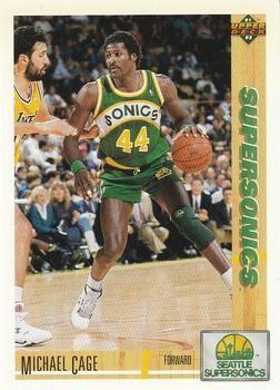 1991 Upper Deck SuperSonics #127 Michael Cage - Standard