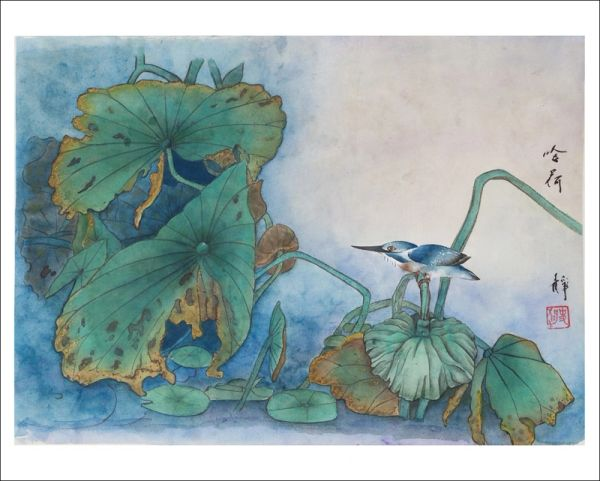 Bird on the Lotus Pond- PRINTS ONLY