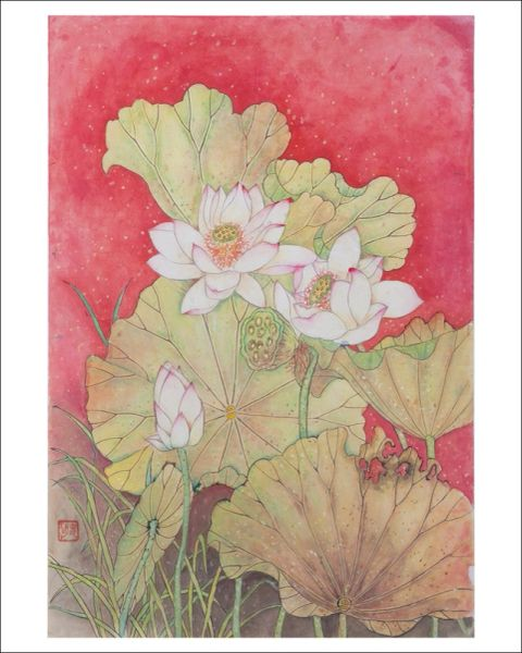 Lotus in Red- SOLD Prints Only