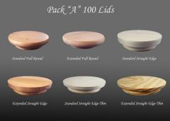 "Pack ""A"" 100 Lids (As Low as $0.44 each)"
