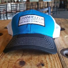 Hat - Light Blue/Navy and White
