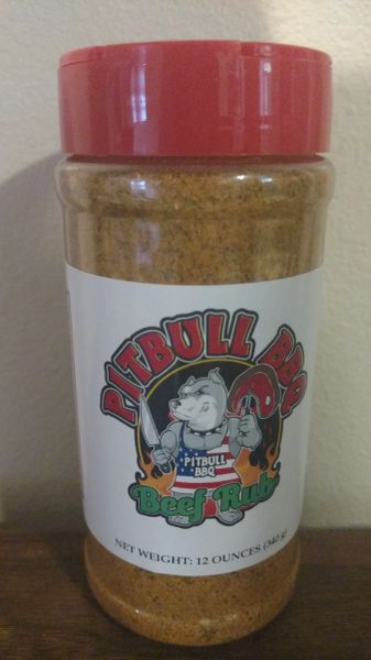 12 Ounce Pitbull BBQ Beef Rub