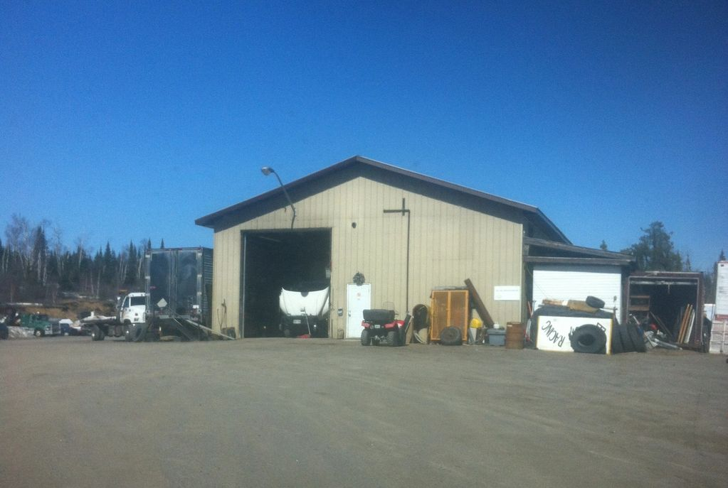 Our 40 by 80 shop where your truck can get serviced or fixed. Lots of room  to turn around out back.