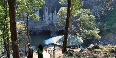 Syntheri rock is a big rock which is biggest rock in Dandeli.