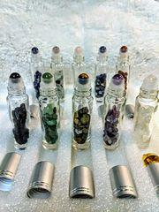 crystal roller-ball glass bottle - empty