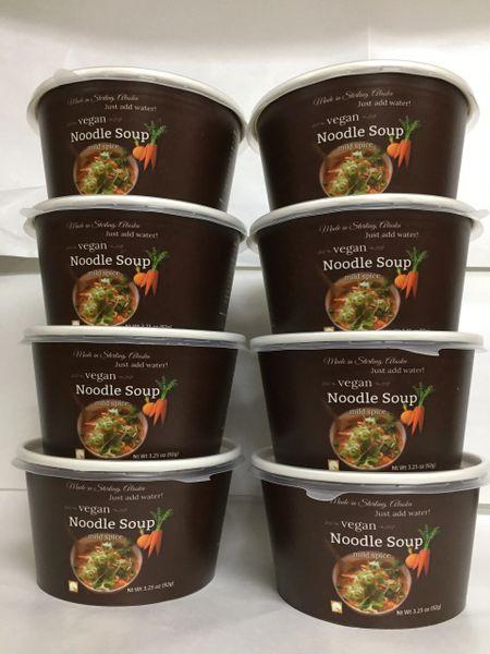 Package Of 8 Mild Vegan Noodle Soup Bowls Rosie S Pasta