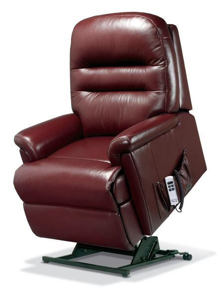 Sherborne Keswick Dual Motor Leather Rise And Recliner Armchair