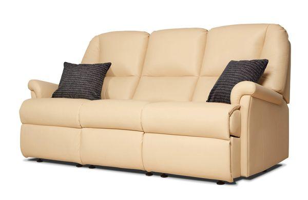 Sherborne Milburn Three Seater Manual Reclining Leather