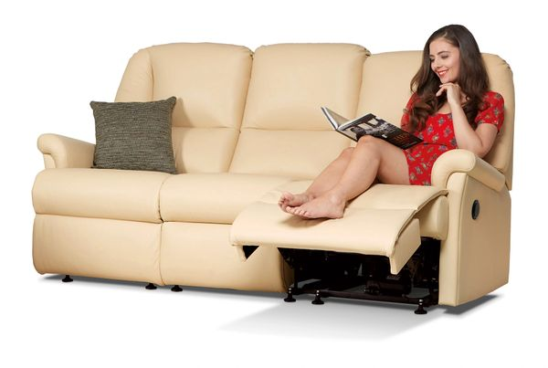 Sherborne Milburn Three Seater Electric Reclining Leather