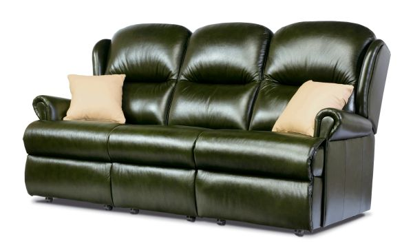 Sherborne Malvern Three Seater Fixed Leather Sofa