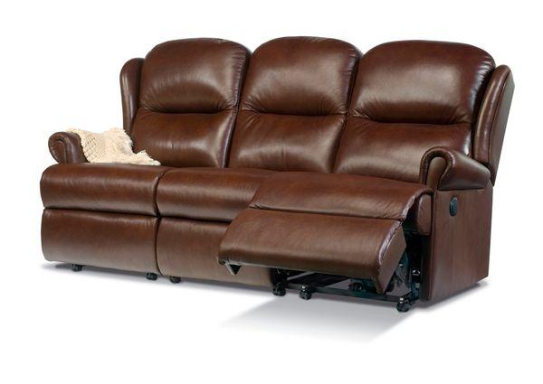 Sherborne Malvern Three Seater Electric Reclining Leather