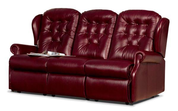 Sherborne Lynton Three Seater Fixed Leather Sofa