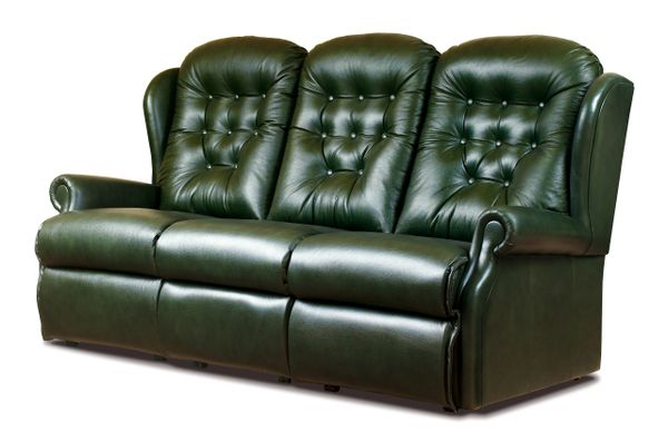 Sherborne Lynton Three Seater Manual Reclining Leather