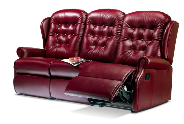 Sherborne Lynton Three Seater Electric Reclining Leather
