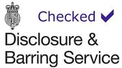 The UK Governments Disclosure & Barring Service logo is used to confirm the safety of carers