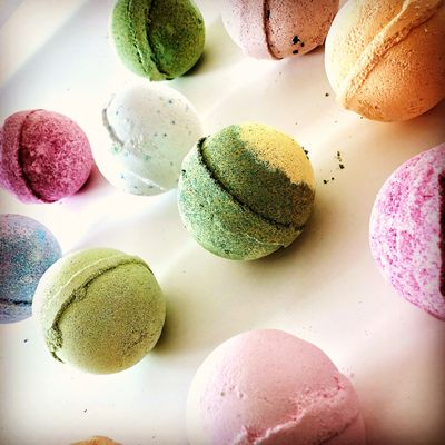 A selection of vegan friendly bath bombs.