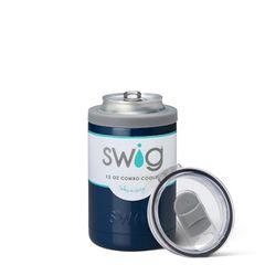 Swig 12oz Combo Cooler Navy Plain