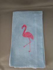 Flamingo - Embroidered Kitchen Towel