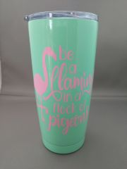 Be a Flamingo in a Flock of Pigeons - Swig 22 oz Steel Thermal Cup