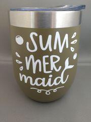 Sum mer maid- 12 oz Steel Thermal Cup