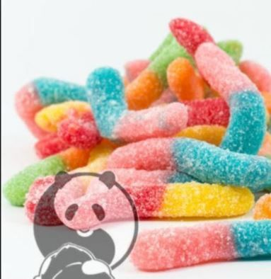 Sour Gummy Worms 400 mg