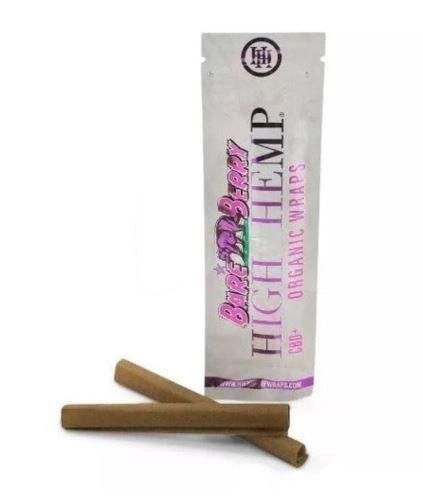 High Hemp Bare Berry Organic Wraps 2 pack