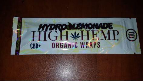 High Hemp Hydro Lemonade Organic Wraps