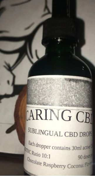 Caring CBD Chocolate Raspberry Coconut Tincture