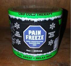 Pain Freeze CBD 4 oz. 200 mg. cold therapy