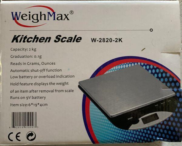 WeighMax Kitchen Scale 2kg Capacity