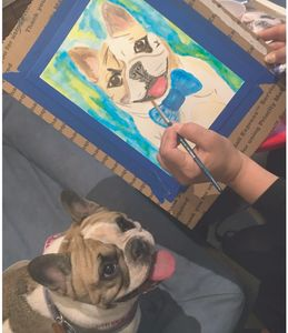 Paint and Sip - Pet Portrait Fun party paint your pet at Boris and Horton