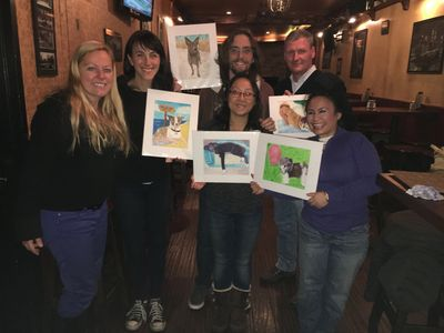 Pet Portrait Fun Paint your Pet Sip and Paint Party in New York City