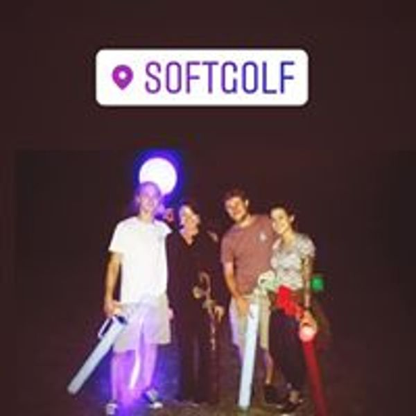 night time friends and fun at Softgolf