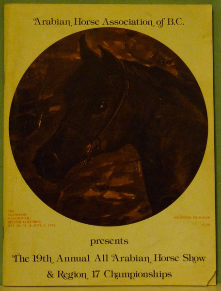 Arabian Horse Association of British Columbia 1975 All Arabian Show program
