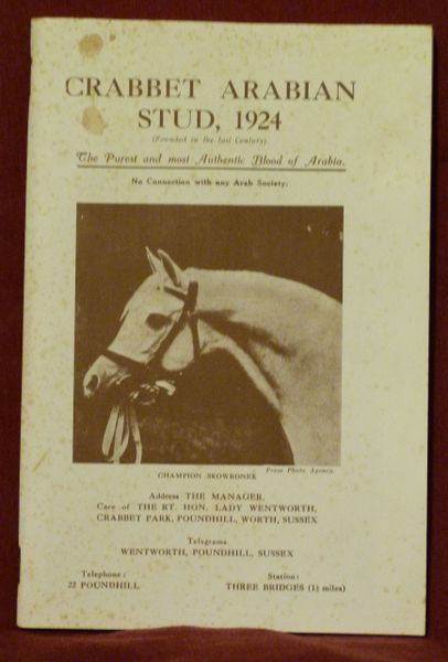 Crabbet Arabian Stud 1924 catalog