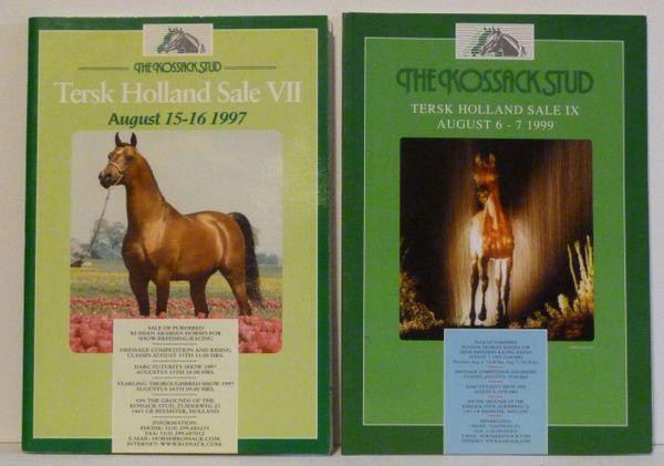 Two Sale Catalogs TERSK HOLLAND SALE RUSSIAN ARABIAN HORSES Kossack Stud 1997, 1998