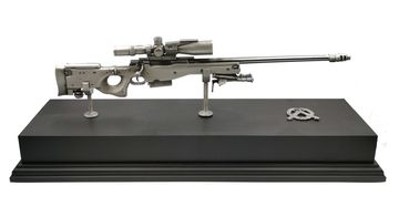 British army sniper rifle model. Pewter military weapons. Military Gifts.