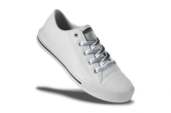 Retro Ladies - White/Silver Lace