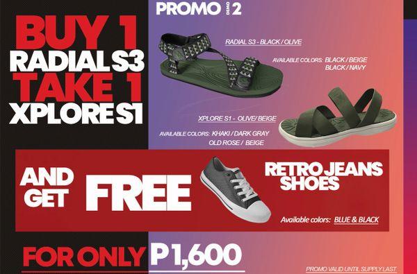 Promo # 2 : Buy 1 Radial S3 take 1 Xplore S1 and get FREE Retro Jeans