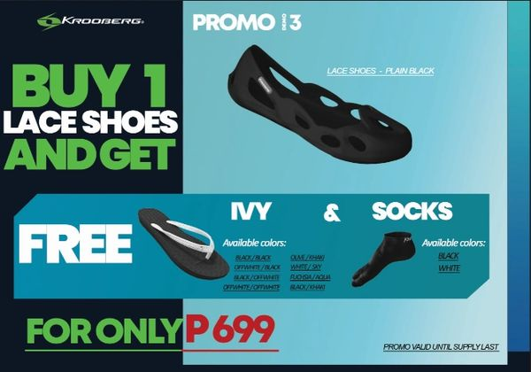 Promo # 3 : Buy Lace Shoes and get FREE IVY & SOCKS