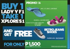 Promo # 6 : Buy 1 Lady Y F1 take 1 Xplore S1 and get FREE Retro Jeans
