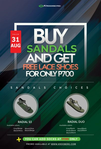 Buy Sandals and get free Lace Shoes