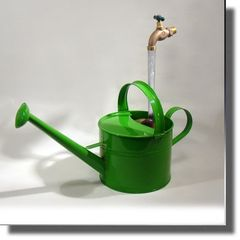 Long Neck Green Watering Can Fountain