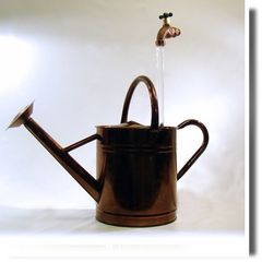 Copper Finish 2 Gallon Watering Can Floating Faucet Fountain