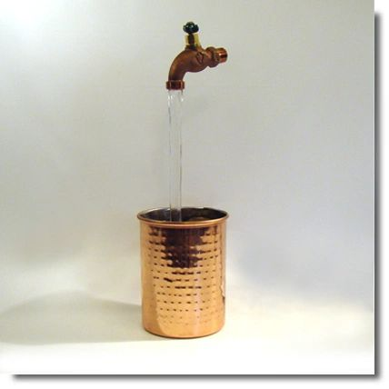 Hammered Copper Vase Fountain