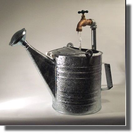 Traditional Style Watering Can Fountain