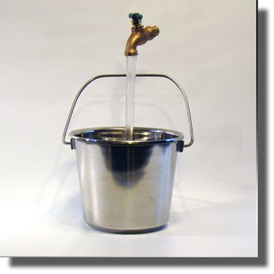 Stainless Steel Bucket Floating Faucet Fountain