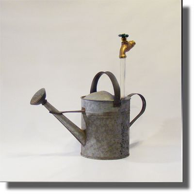 Reclaimed Old School Galvanized Watering Can Fountain