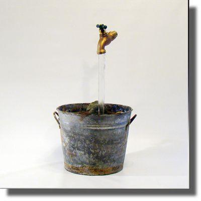 Reclaimed Vintage Galvanized Bucket Fountain